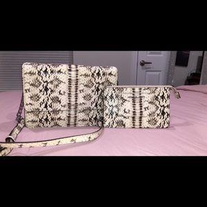 Michael Kors snakeskin chain bag with wristlet